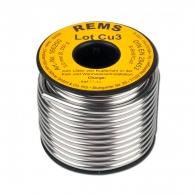 Мек припой REMS Lot CU 3 3мм/250гр, за спояване на медни тръби с тръбни съединения от мед