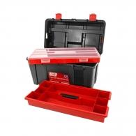 Куфар за инструменти TAYG 33, с органайзер и тава, полипропилен, черен