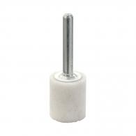 Абразивен шлайфгрифер SWATYCOMET 20х25х6мм, форма OB-цилиндър, цвят бял, 22А