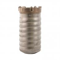 Боркорона с твърдосплавни пластини DREBO 50х100/80мм, за бетон и зидария, с вътрешна резба (система Versio), сухо пробиване