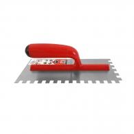 Маламашка за лепило RUBI 10х10, 280х120мм, назъбена, стомана, пластмасова дръжка
