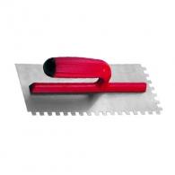 Маламашка за лепило RUBI 8х8, 280х120мм, назъбена, стомана, пластмасова дръжка
