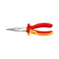 Клещи жустерни KNIPEX 160мм 1000V, прави, CrV, полукръгли плоски челюсти, двукомпонентна дръжка
