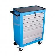 Количка за инструменти с чекмеджета UNIOR, с 6-чекмеджета, без инструменти, 720х440х895