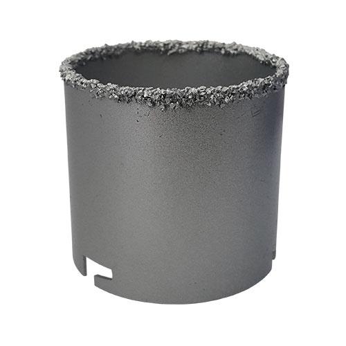 Боркорона с посипка от волфрам-карбид KEIL 33х66/60мм, захват шлици, за керамика, фаянс, теракот и порцелан