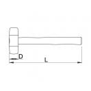 Чук пластмасов UNIOR ф32мм, с дървена дръжка - small, 17444