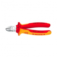 Клещи резачки KNIPEX ф1.5-3.0/125мм, VS, двукомпонентна дръжка, 1000V