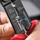 Клещи за кабелни обувки KNIPEX 0.5-2.5мм2, за изолирани и не изолирани обувки, двукомпонентни дръжки - small, 107223