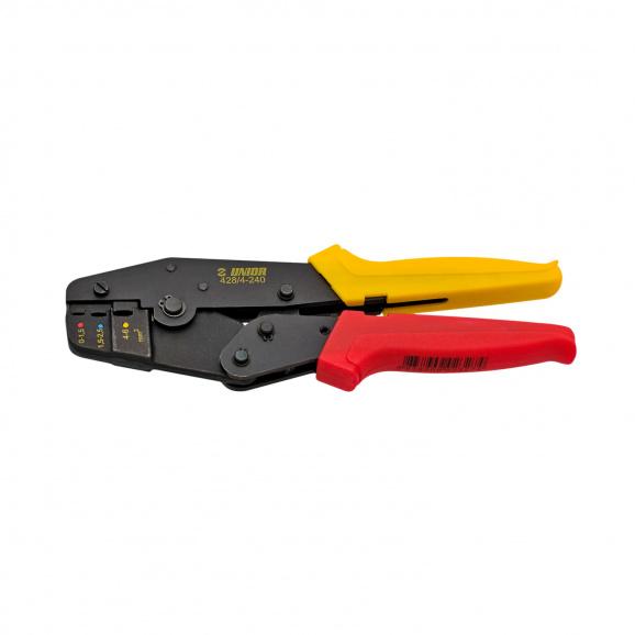 Клещи за кабелни обувки UNIOR 0.5-6.0мм2, за изолирани кабелни обувки, еднокомпонентни дръжки