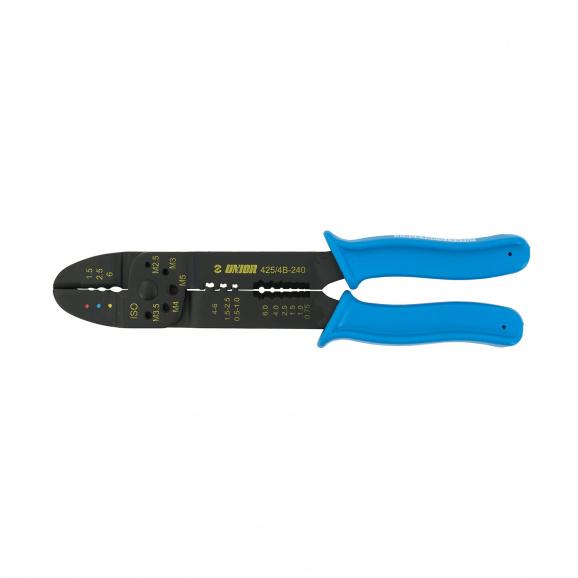 Клещи за кабелни обувки UNIOR 1.5-6.0мм2, за изолирани и не изолирани обувки, еднокомпонентни дръжки