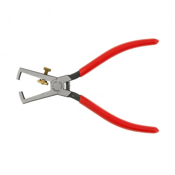 Клещи за заголване на кабели KNIPEX 0.5-10кв.мм/160мм, регулиращ винт, CS, еднокомпонентна дръжка