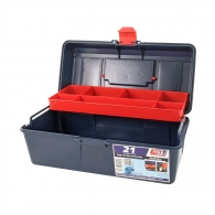 Куфар за инструменти TAYG 21, с една тава, полипропилен, син