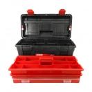 Куфар за инструменти TAYG 35, с органайзер, две тави, полипропилен, черен - small, 107012