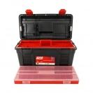 Куфар за инструменти TAYG 35, с органайзер, две тави, полипропилен, черен - small, 123747