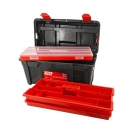 Куфар за инструменти TAYG 35, с органайзер, две тави, полипропилен, черен - small
