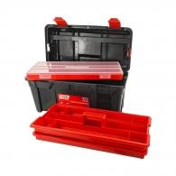 Куфар за инструменти TAYG 35, с органайзер, две тави, полипропилен, черен