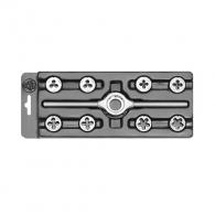 Плашки с върток BUCOVICE TOOLS MINI-1 M3-M12 9части, М-метрична стандартна резба, CS, десни