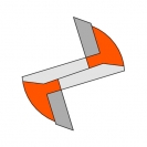 Прав фрезер CMT D=8мм I=20мм L=50мм S=8мм Z=2, HWM, RH - small, 22104