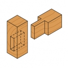 Прав фрезер CMT D=8мм I=20мм L=50мм S=8мм Z=2, HWM, RH - small, 22105