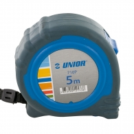 Ролетка пласмасов корпус UNIOR 710P 5м x 19мм, гумирана, двоен стоп, EC-клас 2