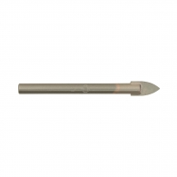 Свредло DREBO 6.0x92мм, за стъкло и керамика, карбиден връх, цилиндрична опашка