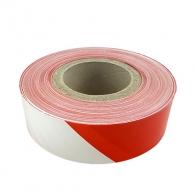 Лента обезопасителна BAND 500м, полиетилен, червено и бяло