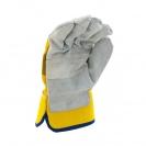 Ръкавици B HOLD GULL EVO, от цепена телешка кожа и плат, подсилена длан - small, 126444