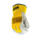 Ръкавици B HOLD GULL EVO, от цепена телешка кожа и плат, подсилена длан - small, 126445