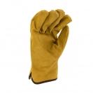 Ръкавици PIGEON, от цепена свинска кожа, 15см , жълти - small, 124604