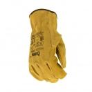 Ръкавици PIGEON, от цепена свинска кожа, 15см , жълти - small, 124605