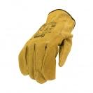 Ръкавици PIGEON, от цепена свинска кожа, 15см , жълти - small, 124606