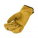 Ръкавици PIGEON, от цепена свинска кожа, 15см , жълти - small, 124607