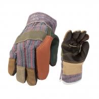 Ръкавици ROBIN, от разноцветна телешка кожа и плат, подсилена длан