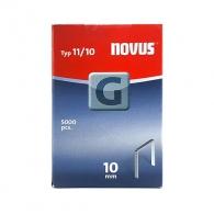 Кламери NOVUS 11/10мм, тип 11/G, плоска тел, 5000бр/кутия