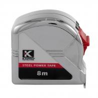 Ролетка пласмасов корпус KAPRO 500 Measuring 8м x 25мм, хромиран