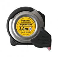 Ролетка метален корпус TOPMASTER 3m x 19mm, с магнит, гунирана