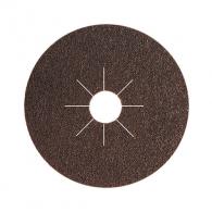 Фибершайба SMIRDEX 125x22.23мм Р100, за шлайфане на мрамор, камък и стротелни материали, черна