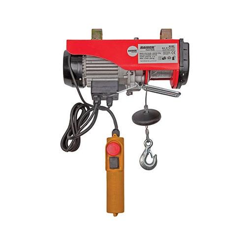 Лебедка електрическа RAIDER RD-EH02, 1020W, 250/500кг, 12м/4.2мм - въже