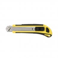 Макетен нож TOPMASTER 18х175мм, пластмасов, стоп бутон, метална глава, 3 резервни остриета