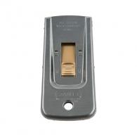 Нож за сваляне на боя STANLEY 40мм, метален, месингов бутон, 95мм дължина, с 5броя резци