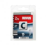 Кламери NOVUS 4/15мм 1100бр., тип 4/C, с тесен гръб, блистер
