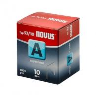 Кламери NOVUS 53/10мм 5000бр., тип 53/A, тънка тел, кутия