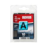 Кламери NOVUS V2A 53/10мм 1000бр., тип 53/A, неръждаема стомана, блистер