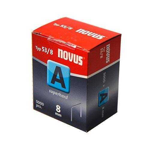 Кламери NOVUS 53/6мм 5000бр., тип 53/A, тънка тел, кутия