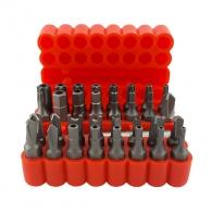 Комплект накрайници FORCE 33части, TX, шестостен, Spaner, Triwing, Troq с магнитен държач