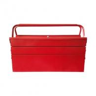 Куфар за инструменти BESSOL 530х200х200мм, метален, 2 дръжка, 5 отделения