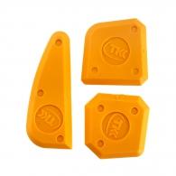 Гладилки за силикон ТКК 3части, с различни ъгли