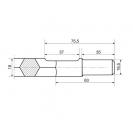 Длето плоско RENNSTEIG 25х400мм/HEX19, захват шестостен - small, 26729