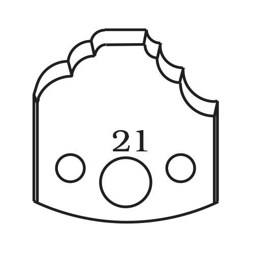 Нож профилен PILANA 21, 40x4мм, инструментална стомана
