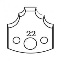 Нож профилен PILANA 22, 40x4мм, инструментална стомана